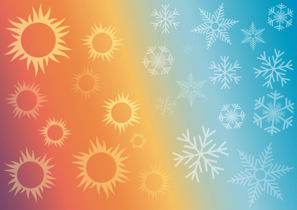 Ambiente caldo o freddo, sistemi di climatizzazione estiva e invernale